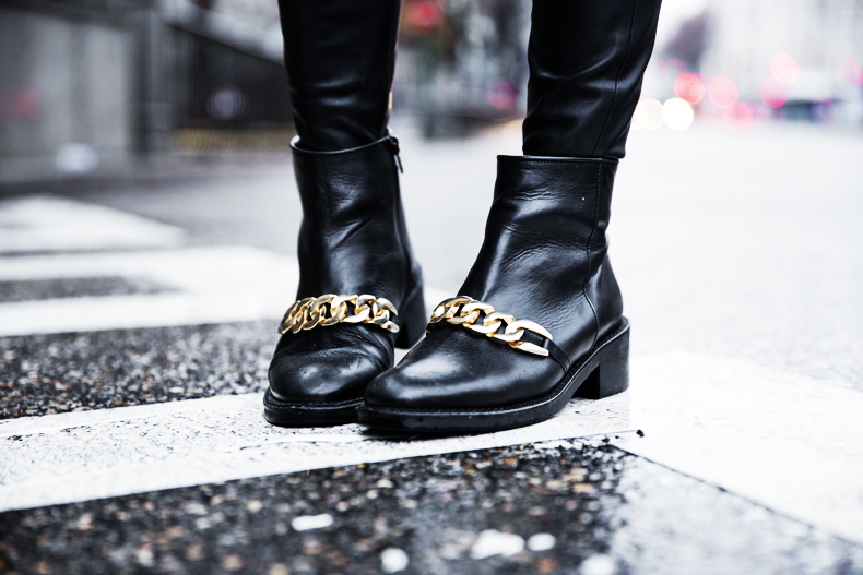 Sweatshirt-Leather_Pants-Parka_Kookai-Style-Chained_Boots-Collage_Vintage-Street_Style-Outfit-