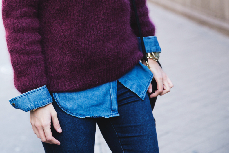 Double_Denim-Loafers-Burgundy_Jumper-Outfit-Vintage_Scarf-Street_Style-30