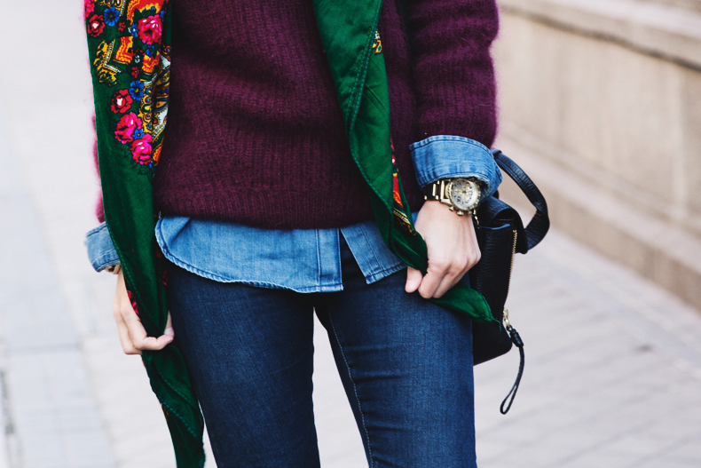 Double_Denim-Loafers-Burgundy_Jumper-Outfit-Vintage_Scarf-Street_Style-35