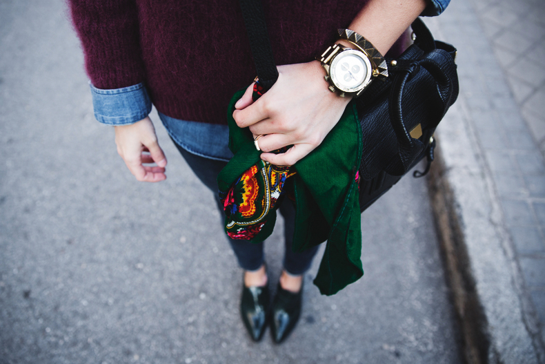 Double_Denim-Loafers-Burgundy_Jumper-Outfit-Vintage_Scarf-Street_Style-29