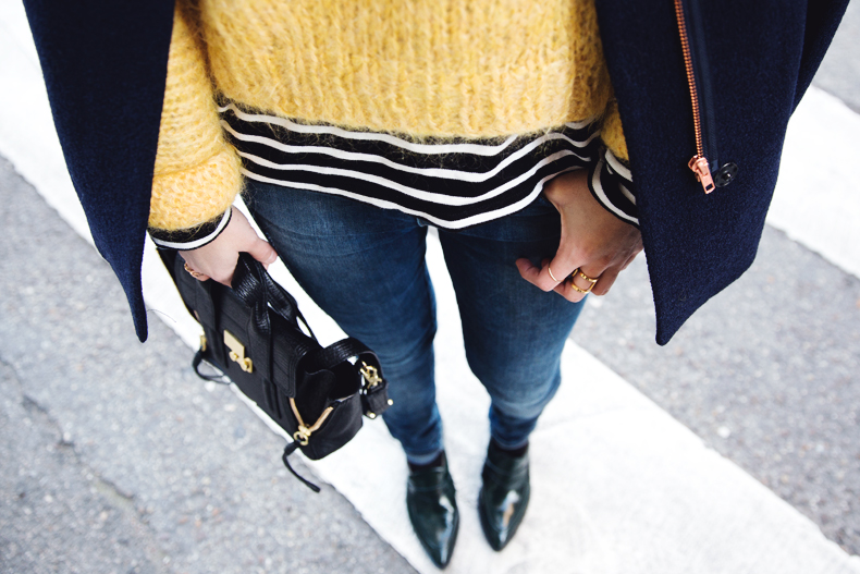 Yellow_Sweater-Striped_Top-Jeans-Flippa_K-Coat-Girissima-Street_Style-Loafers-Outfit-27