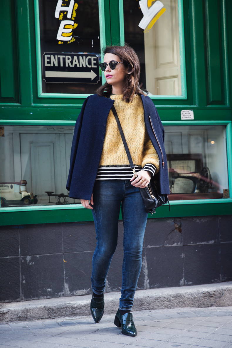 Yellow_Sweater-Striped_Top-Jeans-Flippa_K-Coat-Girissima-Street_Style-Loafers-Outfit-11