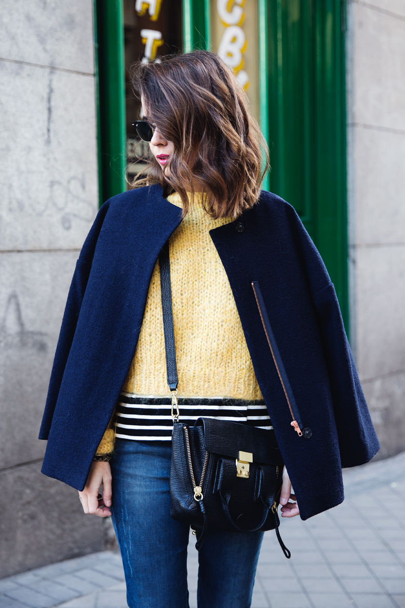 Yellow_Sweater-Striped_Top-Jeans-Flippa_K-Coat-Girissima-Street_Style-Loafers-Outfit-4