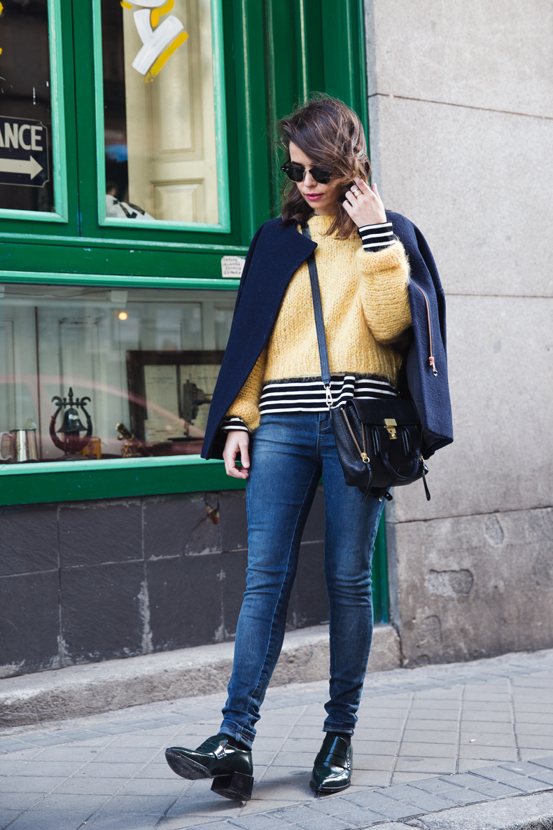 Yellow_Sweater-Striped_Top-Jeans-Flippa_K-Coat-Girissima-Street_Style-Loafers-Outfit-15