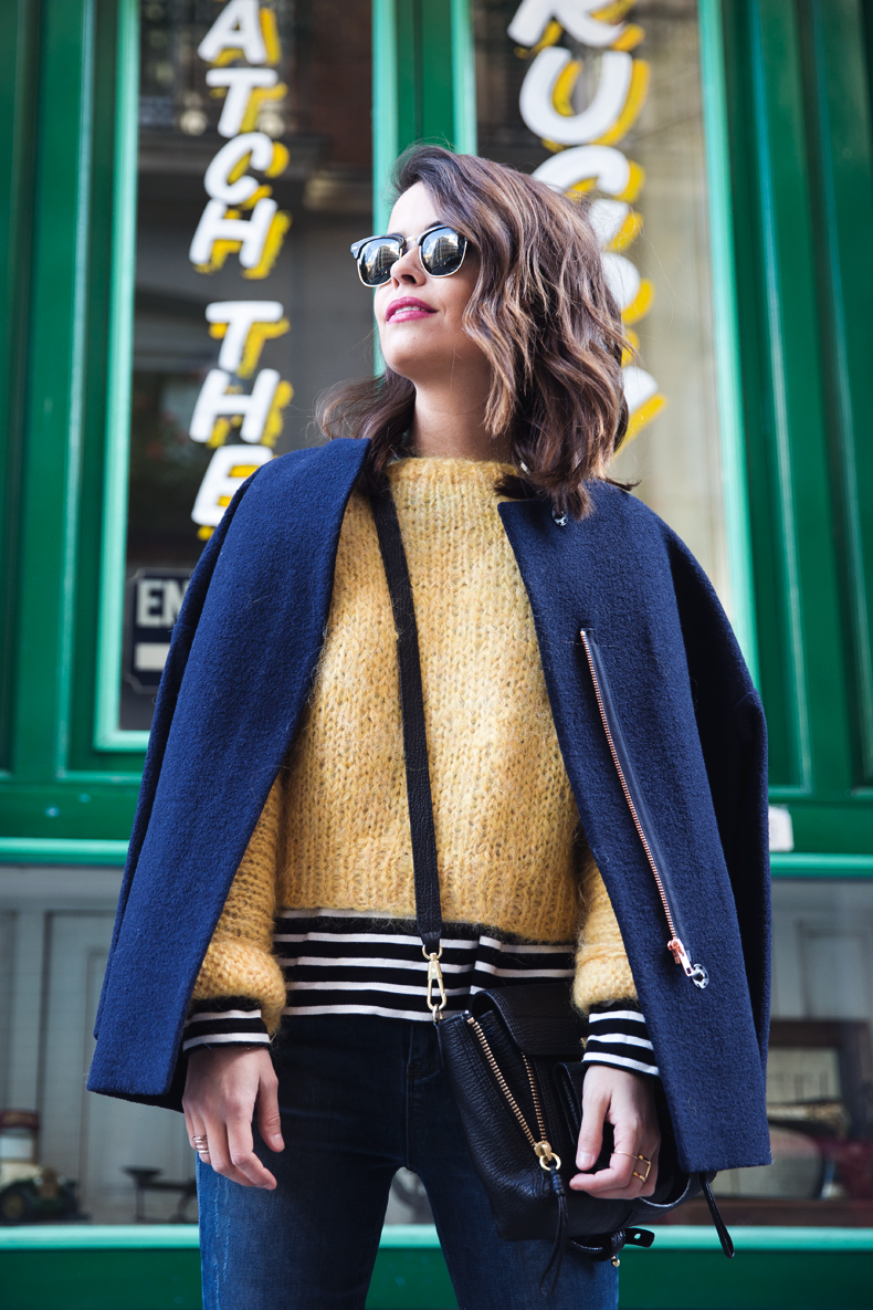 Yellow_Sweater-Striped_Top-Jeans-Flippa_K-Coat-Girissima-Street_Style-Loafers-Outfit-7