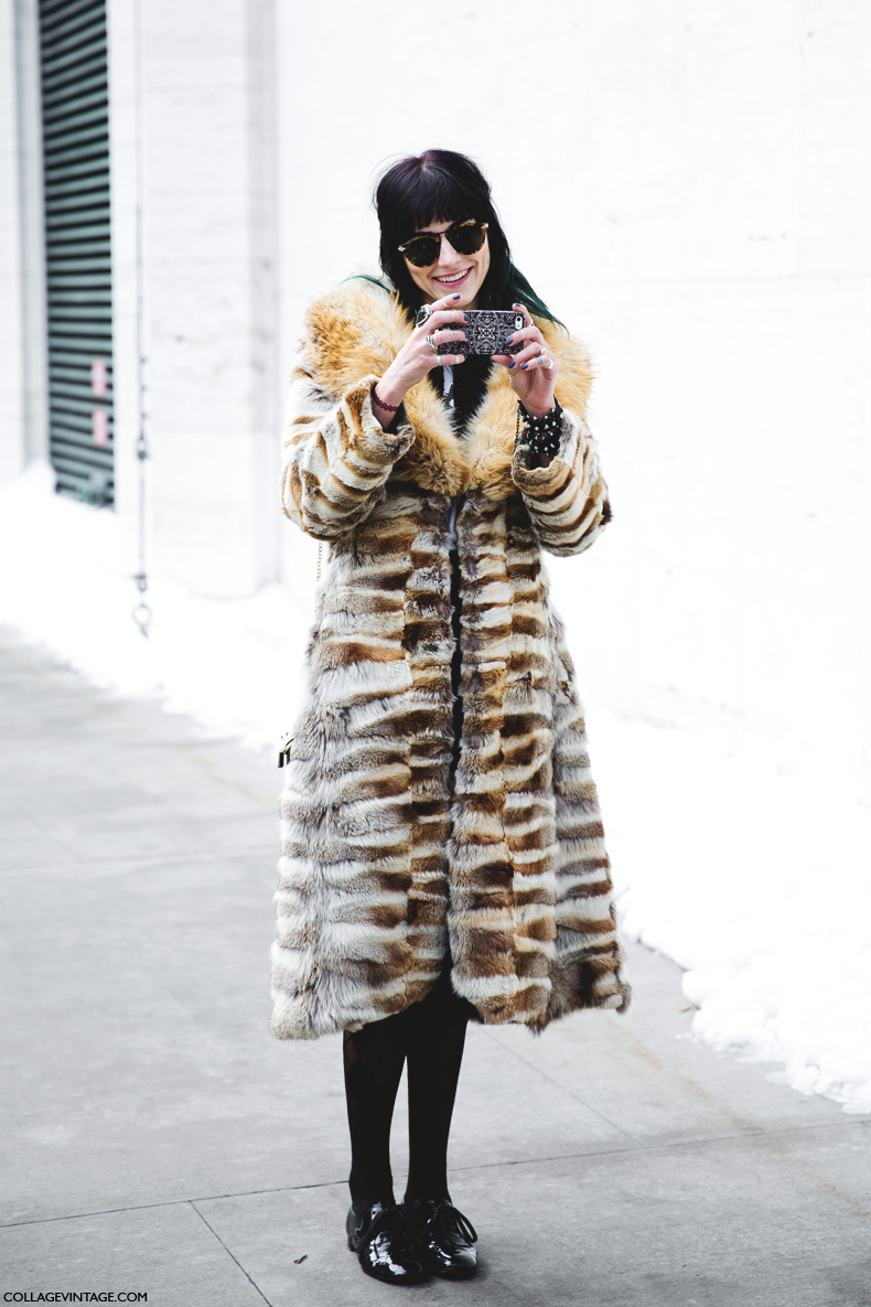 New York Fashion Week Street Style Ii Collage Vintage