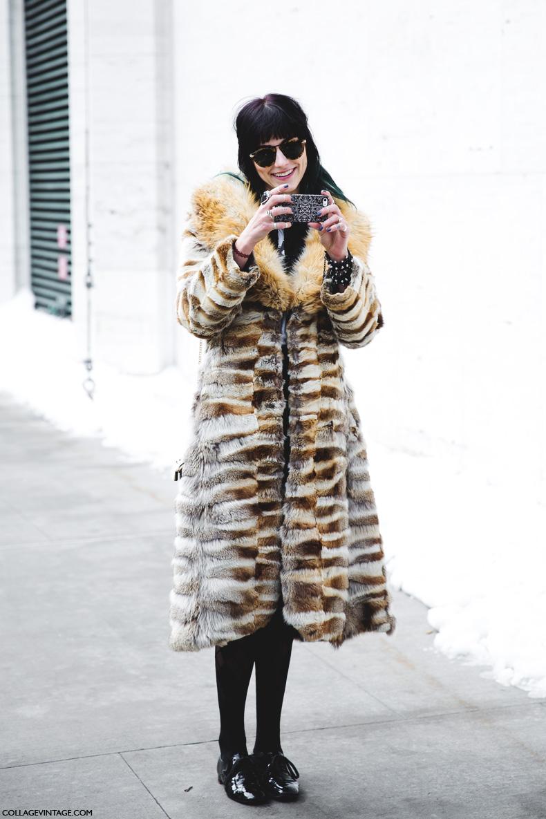 New York Fashion Week Street Style Ii Collage Vintage