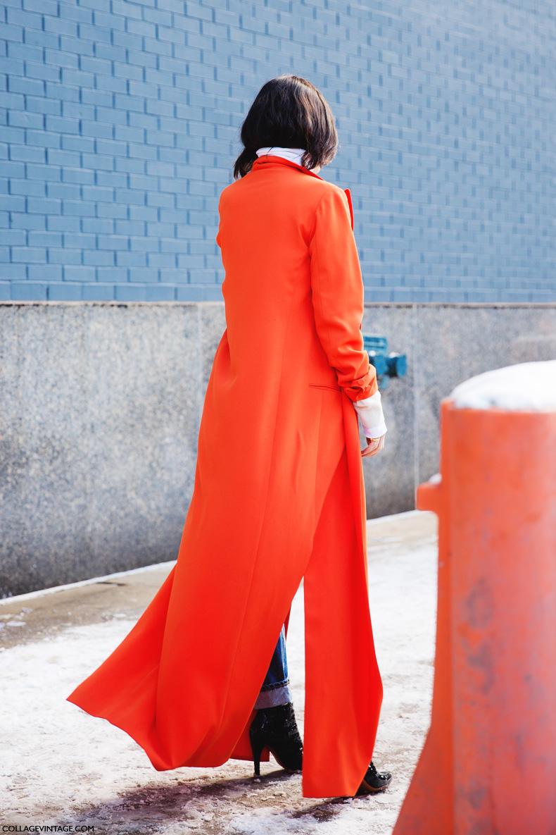 New_York_Fashion_Week-Street_Style-Fall_Winter-2015-Jeans-Long_Blazer-Orange-Turtleneck-Man_Repeller-LEandra_Medine-2