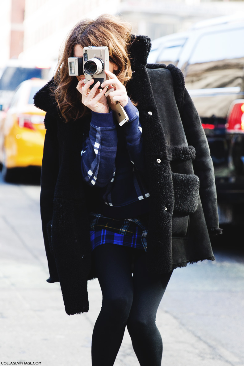 New_York_Fashion_Week-Street_Style-Fall_Winter-2015-Hanneli_Mustaparta-Mixing_Prints-Plaid_Outfit-6
