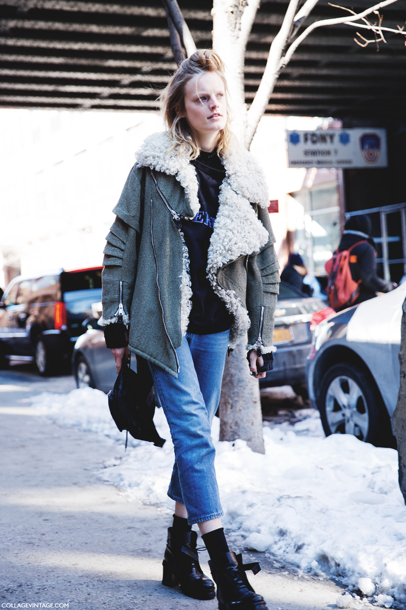 New_York_Fashion_Week-Street_Style-Fall_Winter-2015-Hanne_GAbi_Shearling_Coat