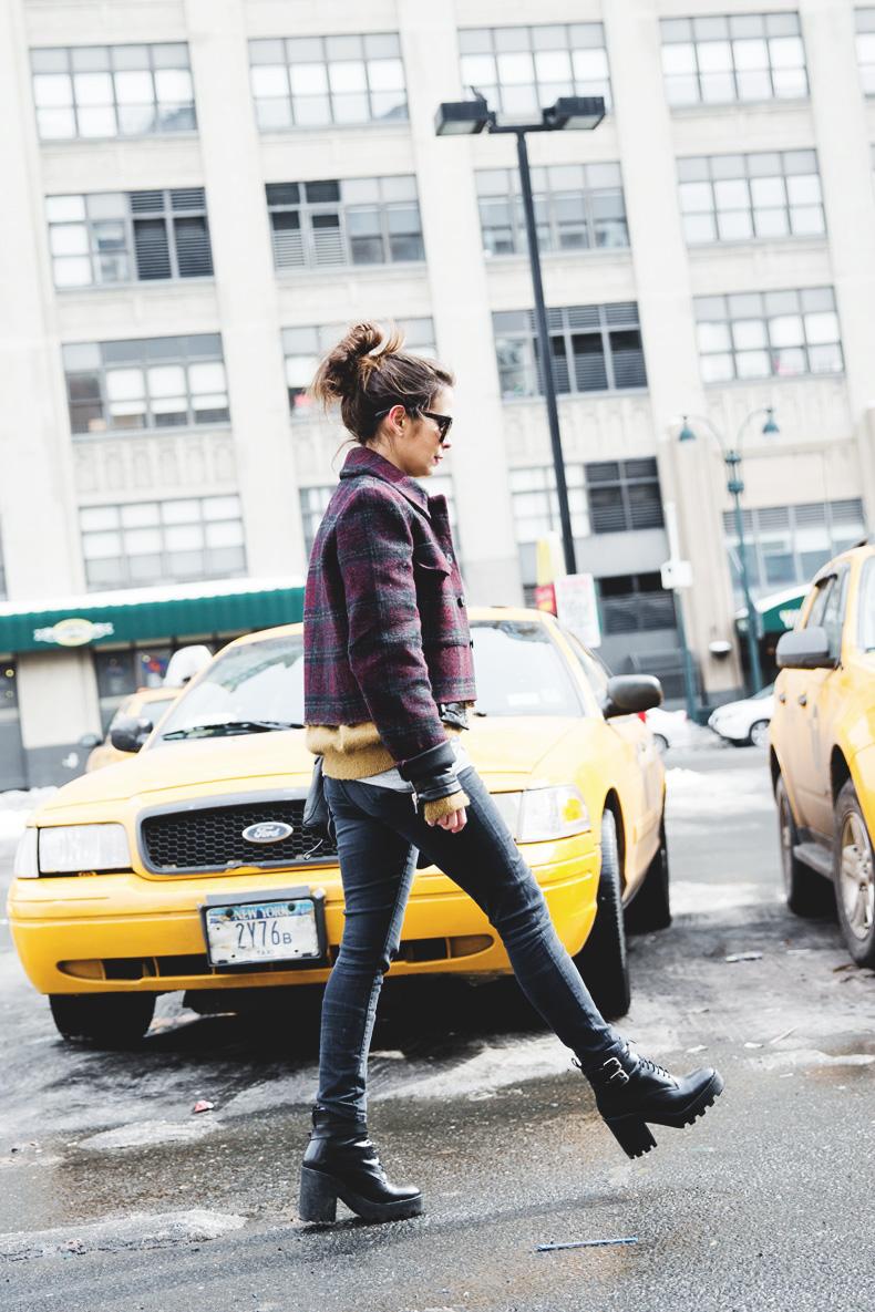 Neoprene_Jacket-GReen_Jumper-Outfit-NYFW-Street_Style-1