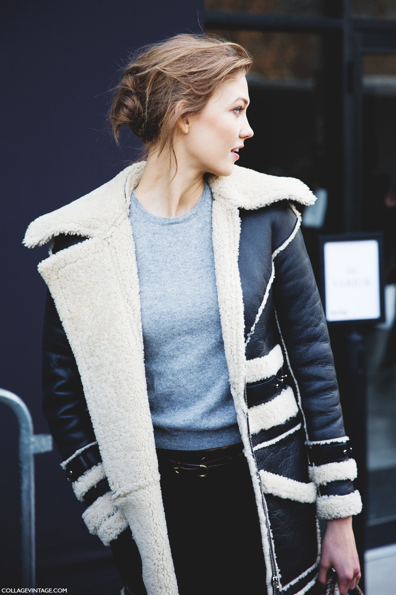 New_York_Fashion_Week-Street_Style-Fall_Winter-2015-Karlie_Kloss-Shearling-Jacket
