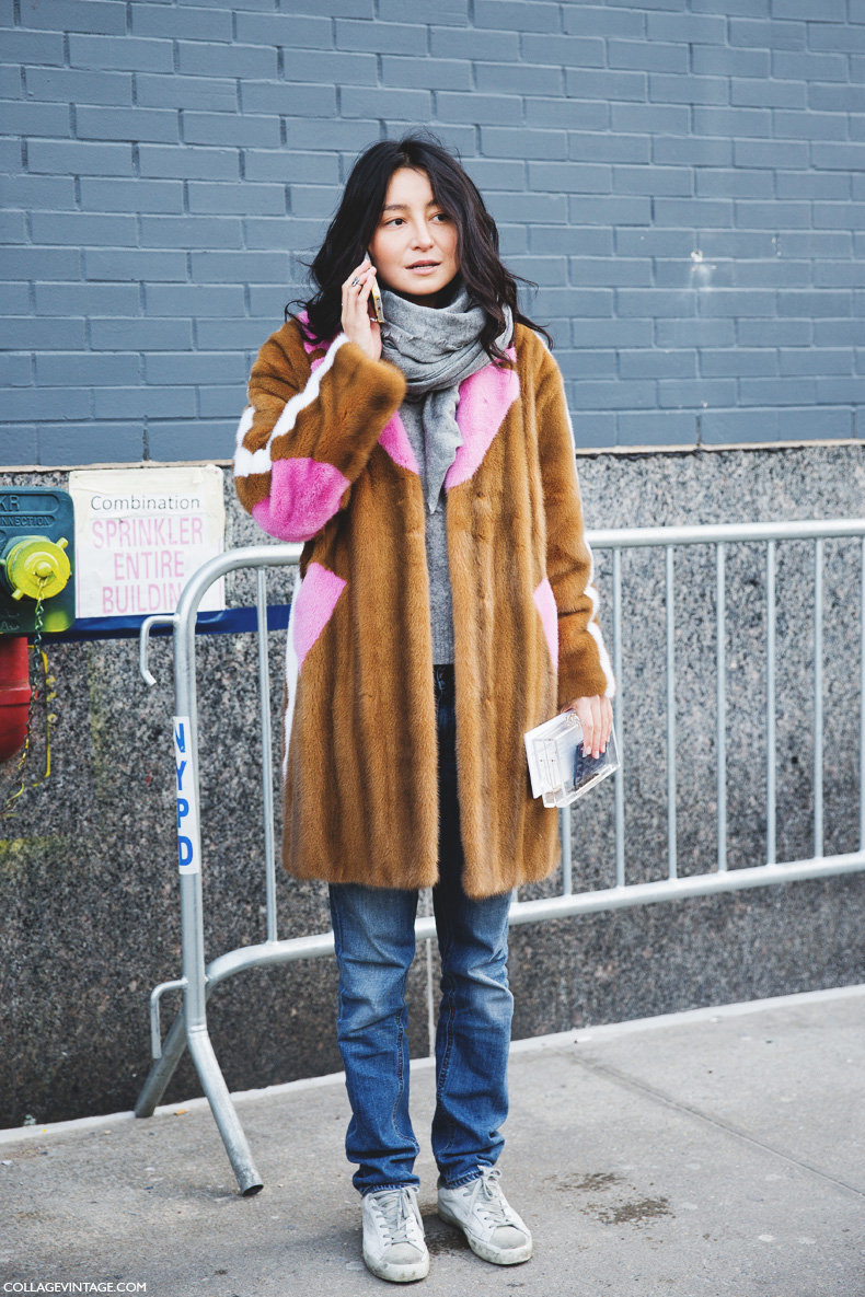 New_York_Fashion_Week-Street_Style-Fall_Winter-2015-Fur_Coat-Scarf