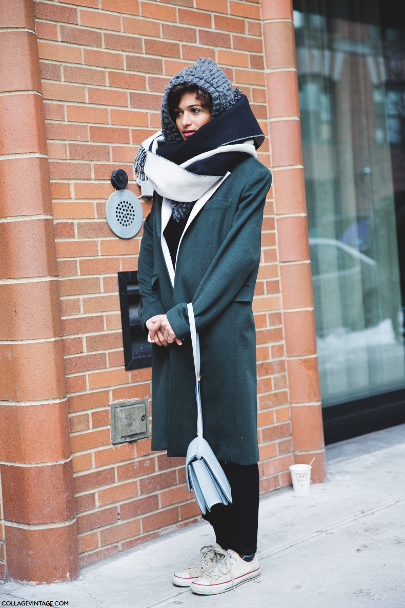 New_York_Fashion_Week-Street_Style-Fall_Winter-2015-Sporty_Chic-Converse-Sneakers-Scarf-Celine_Bag-