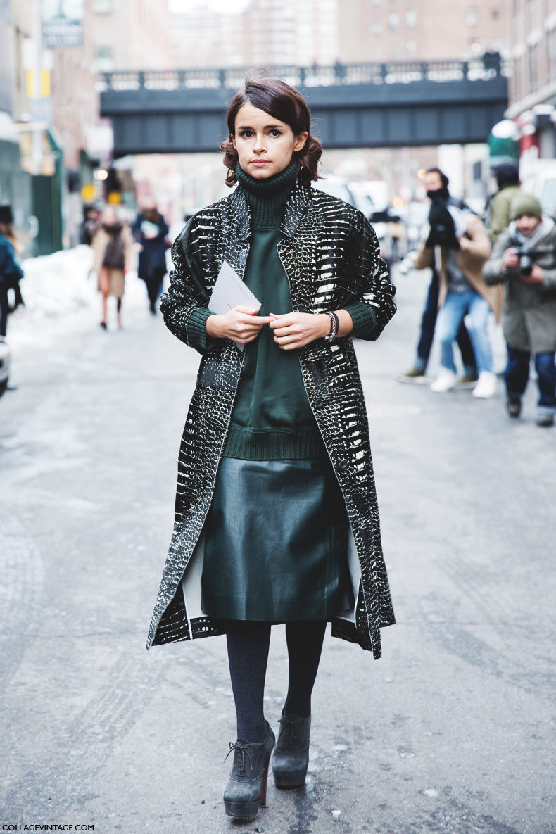 New_York_Fashion_Week-Street_Style-Fall_Winter-2015-Miroslava_Duma-Leather-Green-Reed_Krakof-