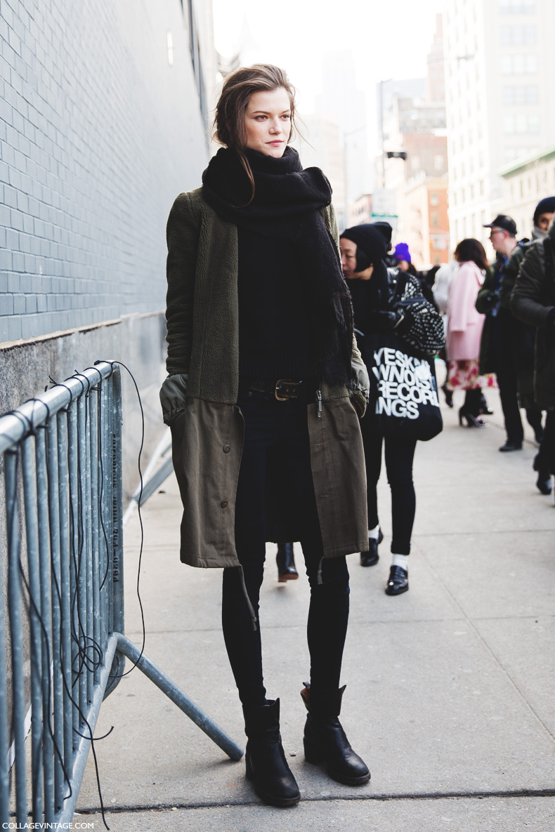 New York Fashion Week Street Style Vii Collage Vintage