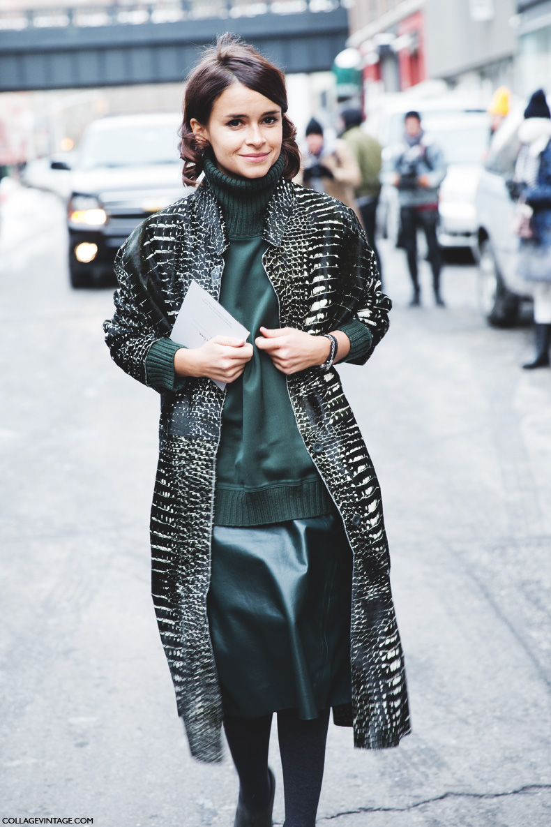 New_York_Fashion_Week-Street_Style-Fall_Winter-2015-Miroslava_Duma-Leather-Green-Reed_Krakof-1