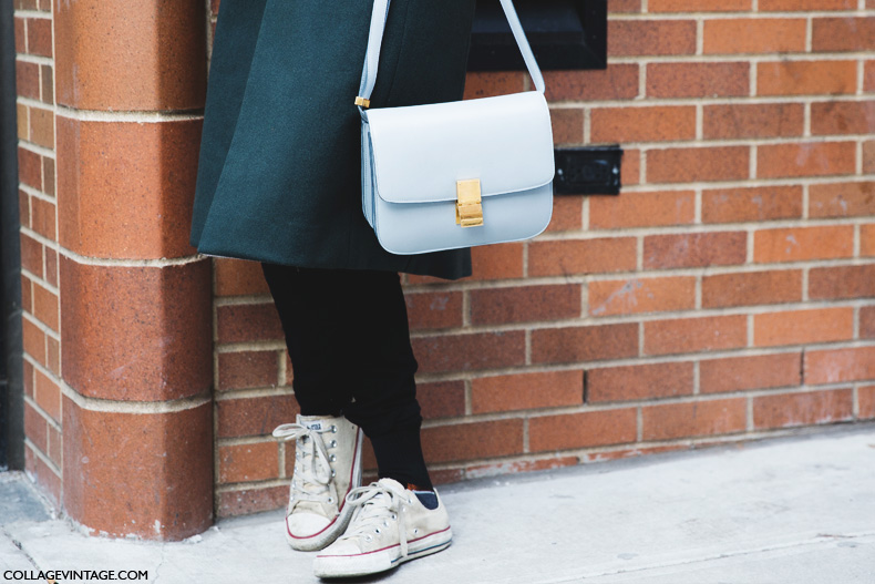 New_York_Fashion_Week-Street_Style-Fall_Winter-2015-Sporty_Chic-Converse-Sneakers-Scarf-Celine_Bag-1