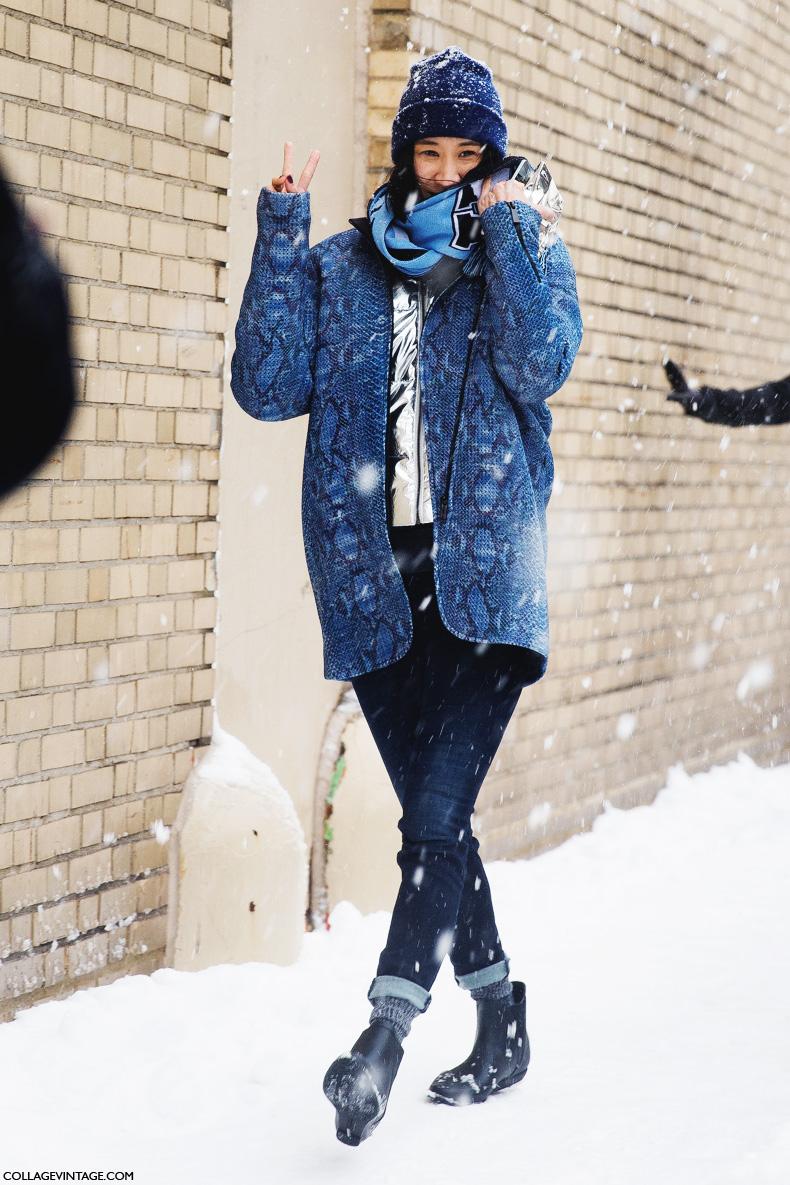 New_York_Fashion_Week-Street_Style-Fall_Winter-2015-eva_chen_beanie-snowstorm-