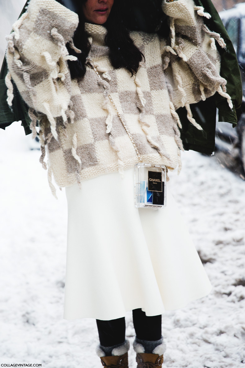 New_York_Fashion_Week-Street_Style-Fall_Winter-2015-White_Outfit-Snowstorm-Chanel-Bag