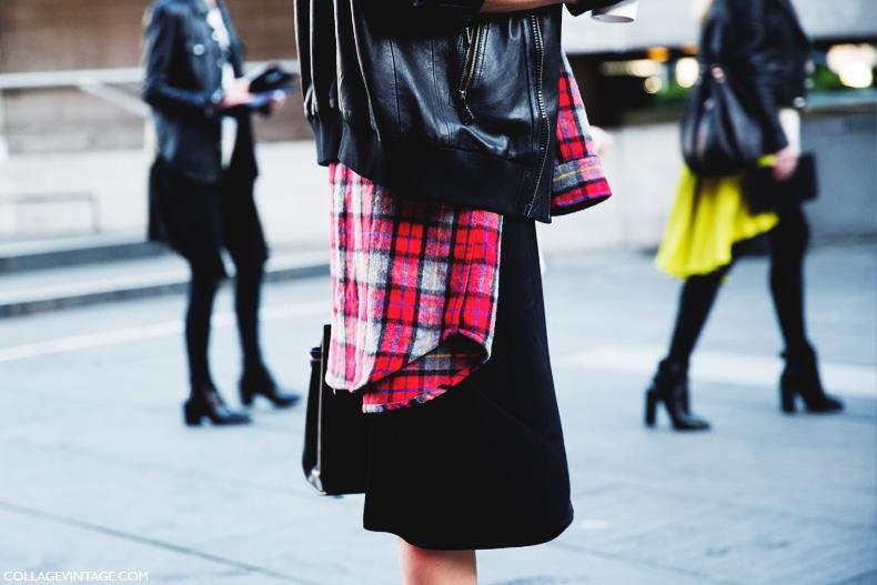 London_Fashion_Week-Street_Style-Fall_Winter_14-Plaid_Shirt