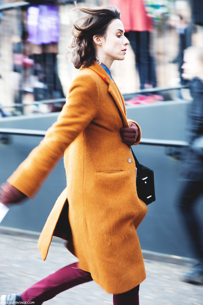 London_Fashion_Week-Street_Style-Fall_Winter_14-Orange_Coat