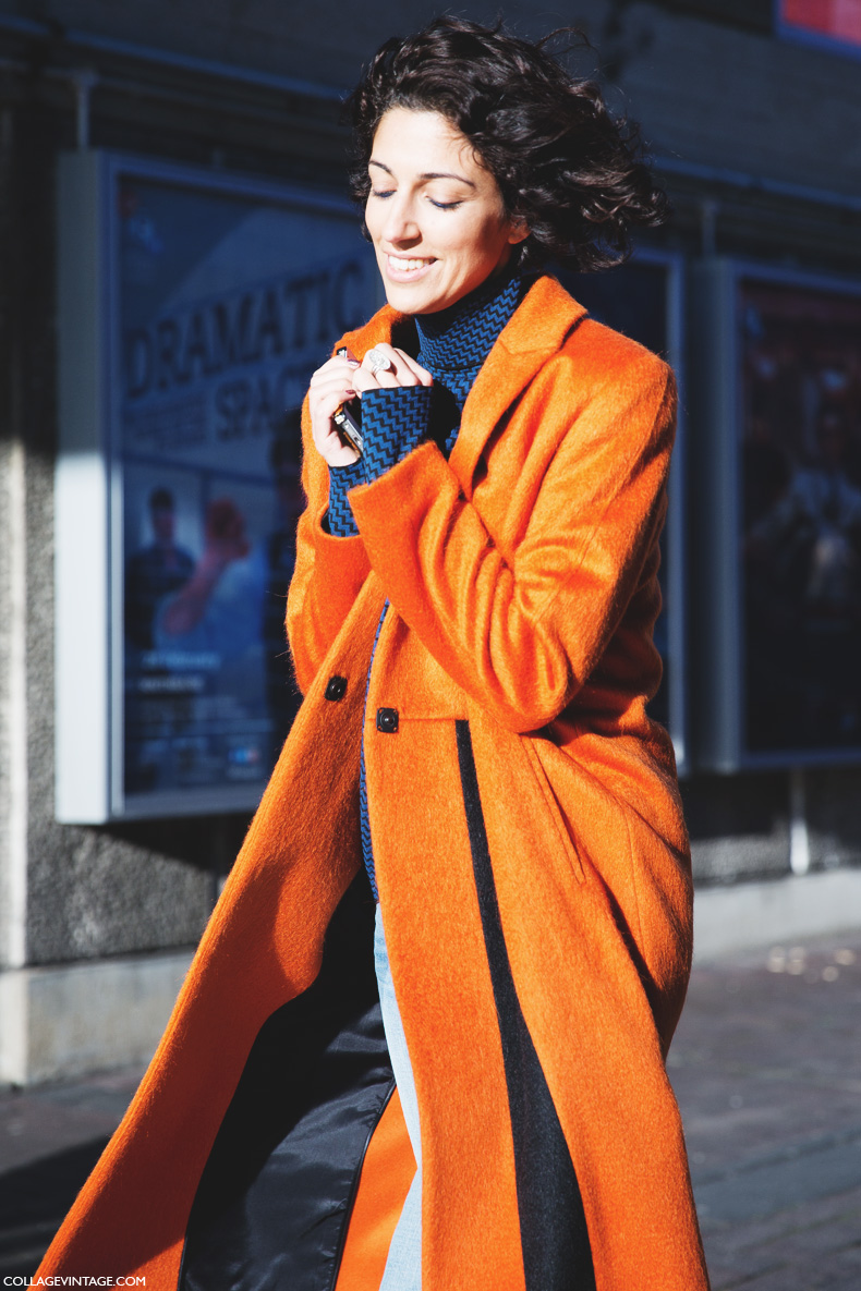 London_Fashion_Week-Street_Style-Fall_Winter_14-Yasmin_Sewell-Orange_Coat-