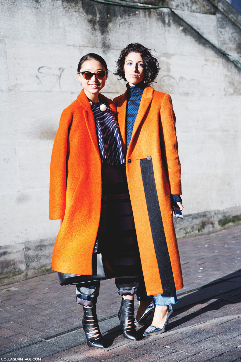 London_Fashion_Week-Street_Style-Fall_Winter_14-Yasmin_Sewell-Orange_Coat-1