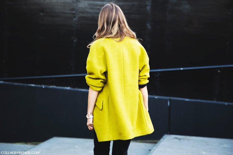 London_Fashion_Week-Street_Style-Fall_Winter_14-Green_Coat-Topshop-