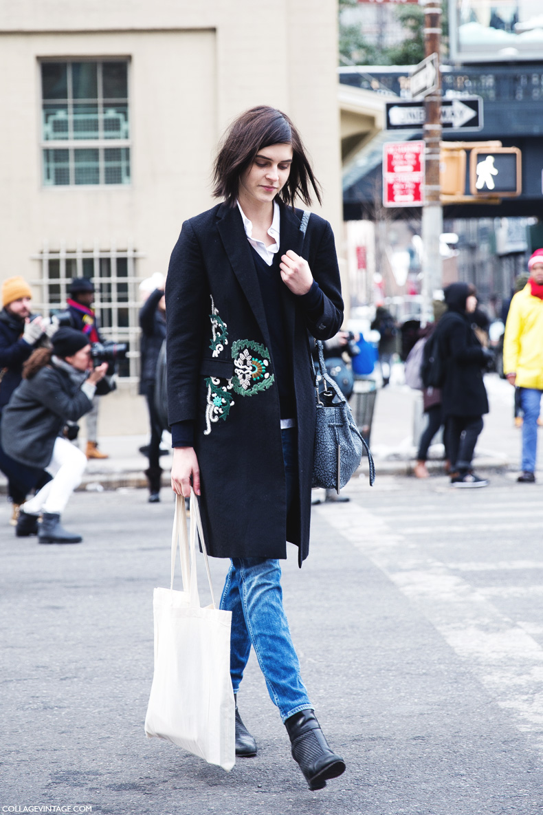 New_York_Fashion_Week-Street_Style-Fall_Winter-2015-Embroidered_Coat-