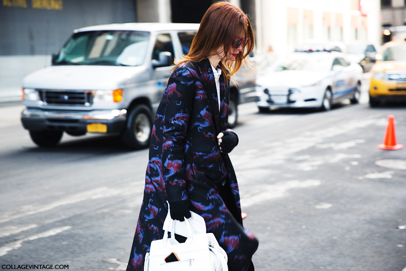 New_York_Fashion_Week-Street_Style-Fall_Winter-2015-Printed_Coat-