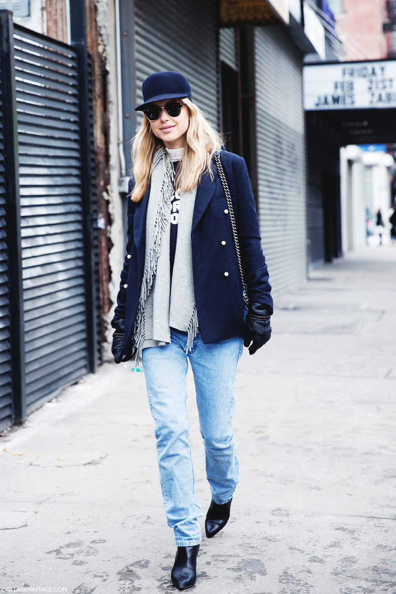 New_York_Fashion_Week-Street_Style-Fall_Winter-2015-Look_De_Pernille-CUp-Levis-Vintage_Jeans-