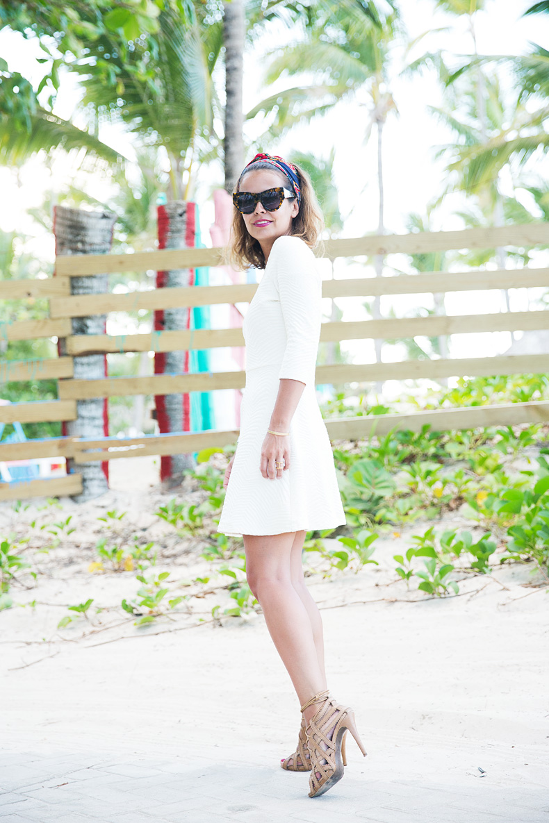 White_Dress-Lace_Up_Sandals-Scarf-Turbant-Outfit-Street_Style-3