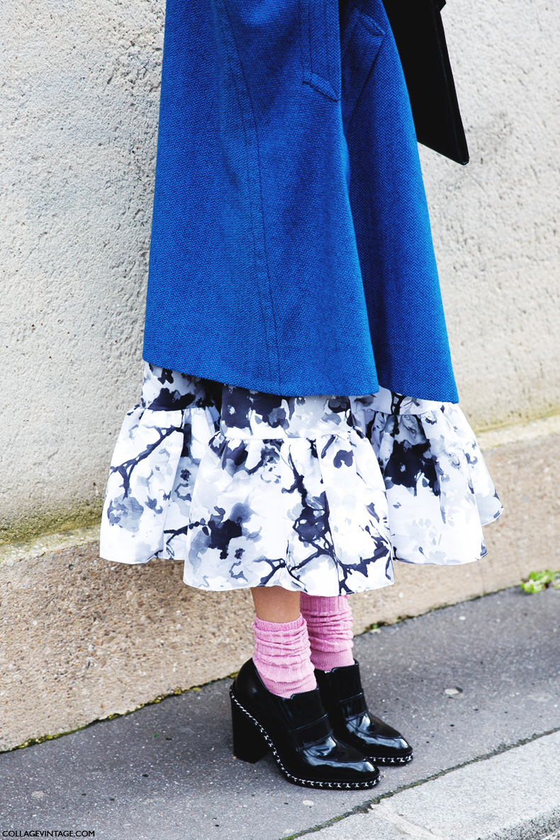Paris_Fashion_Week_Fall_14-Street_Style-PFW-Pink_Socks-Floral_Dress-1