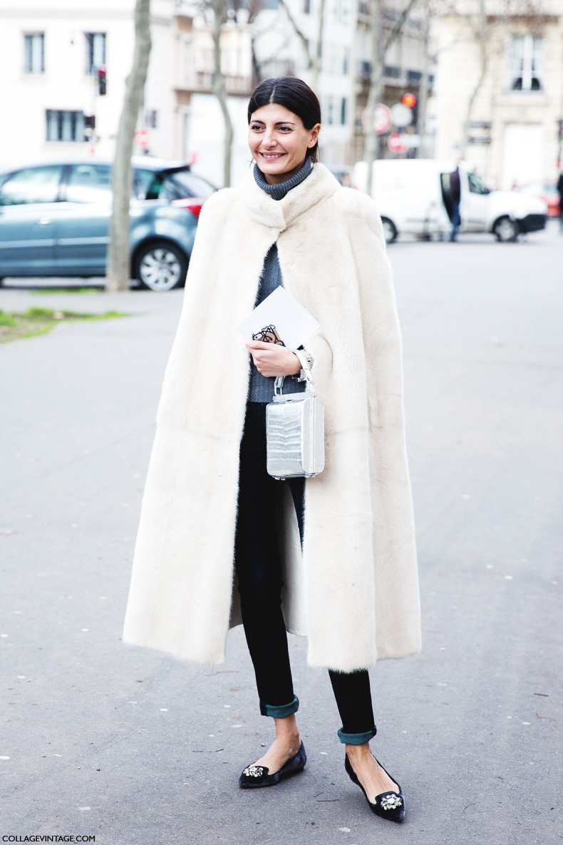 Paris_Fashion_Week_Fall_14-Street_Style-PFW-Giovanna_Battaglia-Fur_Cape-Dior-1