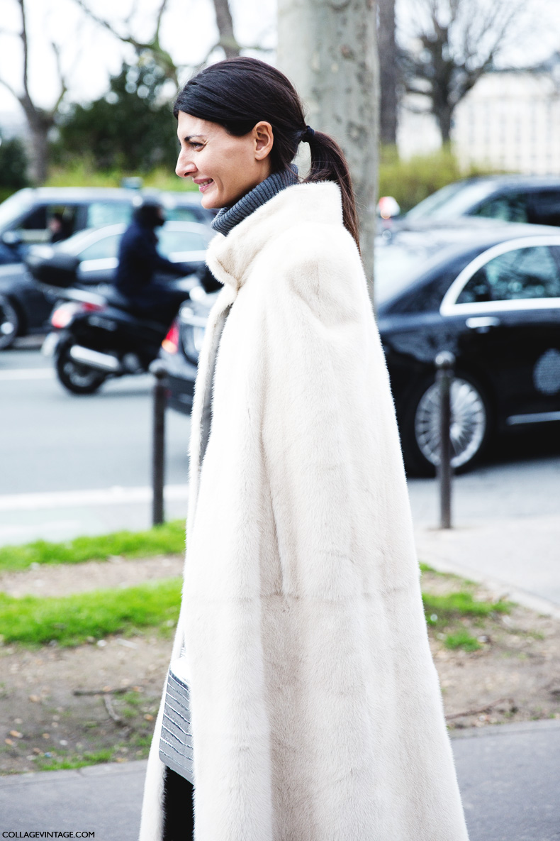 Paris_Fashion_Week_Fall_14-Street_Style-PFW-Giovanna_Battaglia-Fur_Cape-Dior-