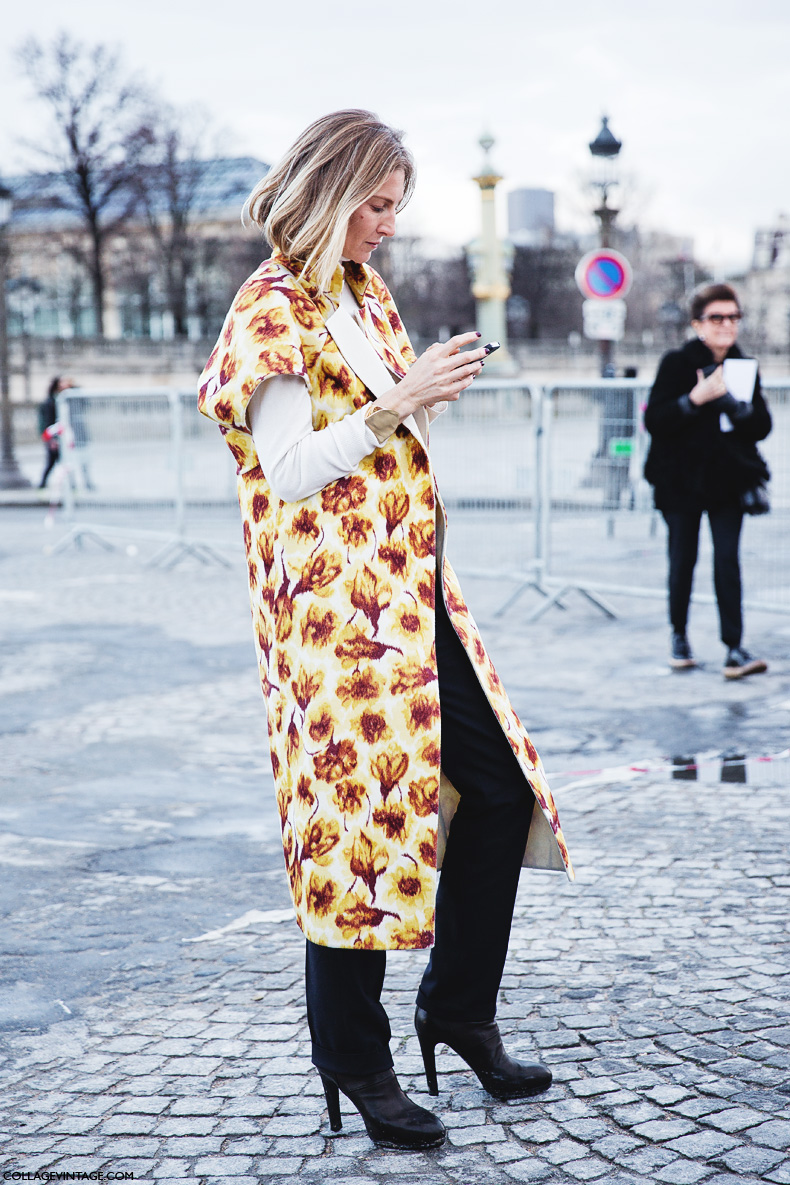 Paris_Fashion_Week_Fall_14-Street_Style-PFW-Floral_Cape-Elisabeth_Vonn-Balmain-1