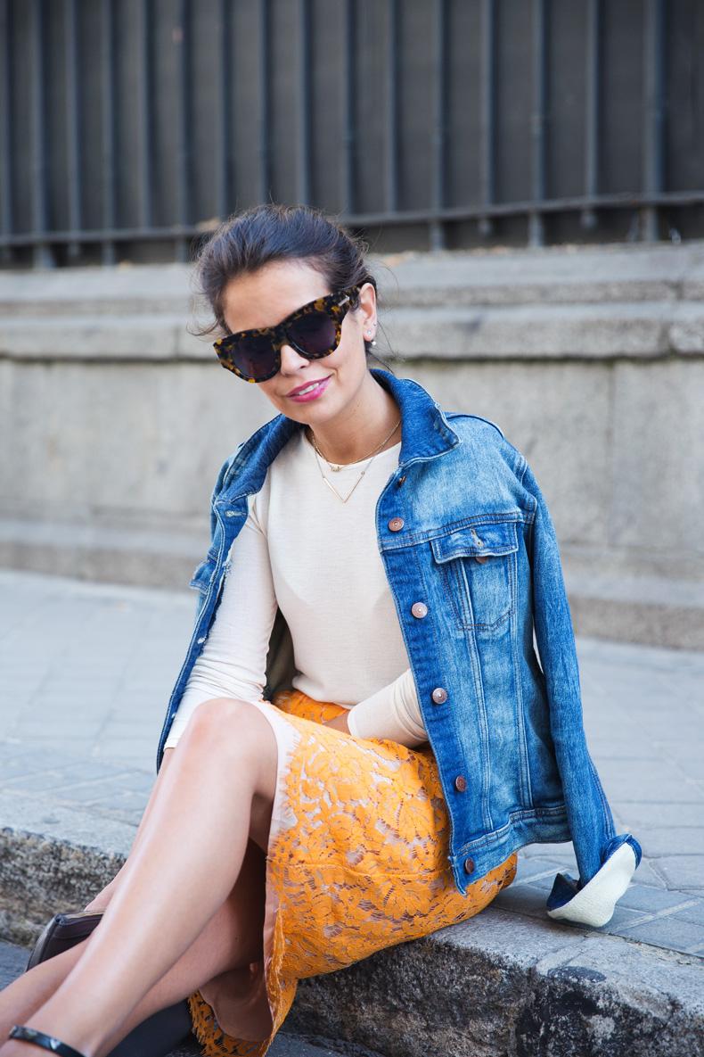 Twin_Set-Orange_Lace_Skirt-Denim_Jacket-Midi_Skirt-Street_Style-ouftit-29