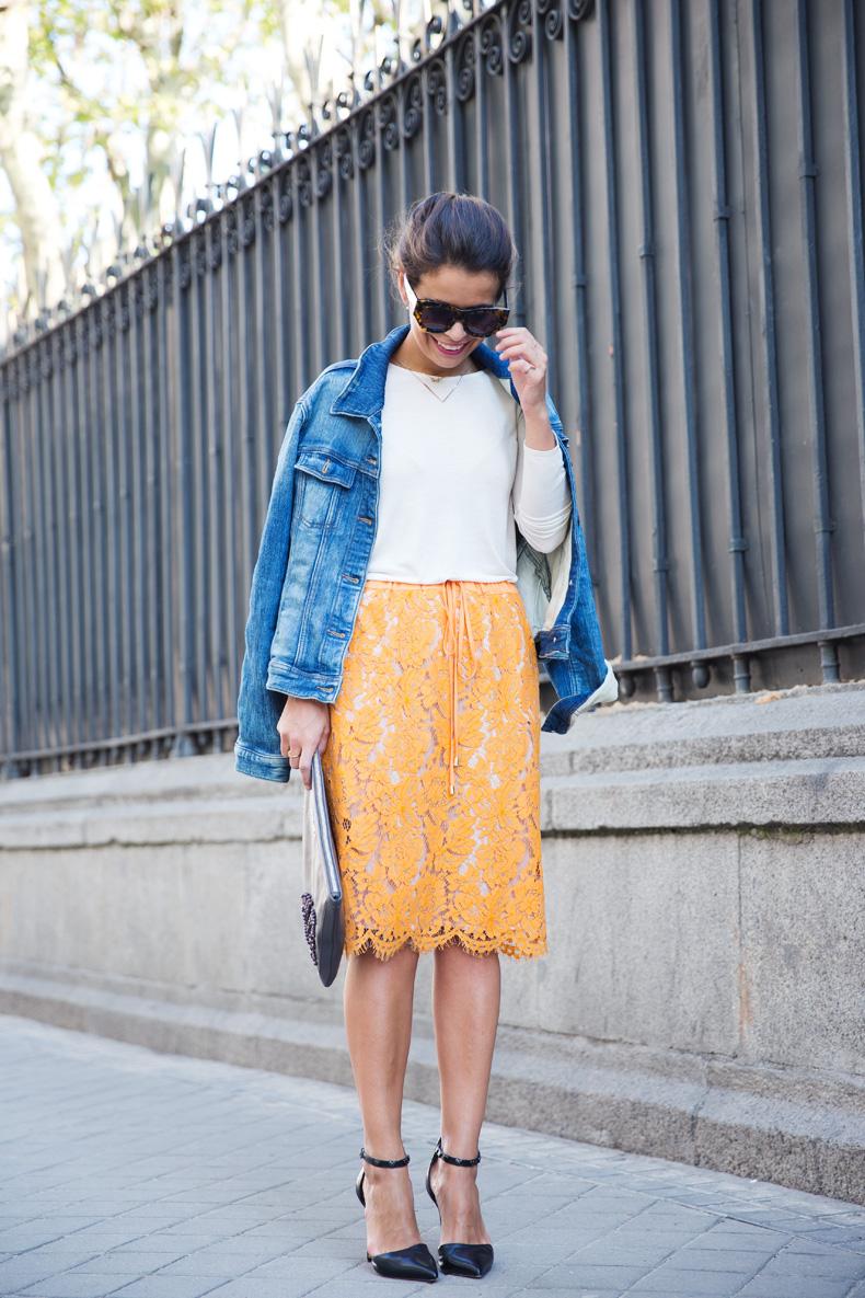 Twin_Set-Orange_Lace_Skirt-Denim_Jacket-Midi_Skirt-Street_Style-ouftit-19