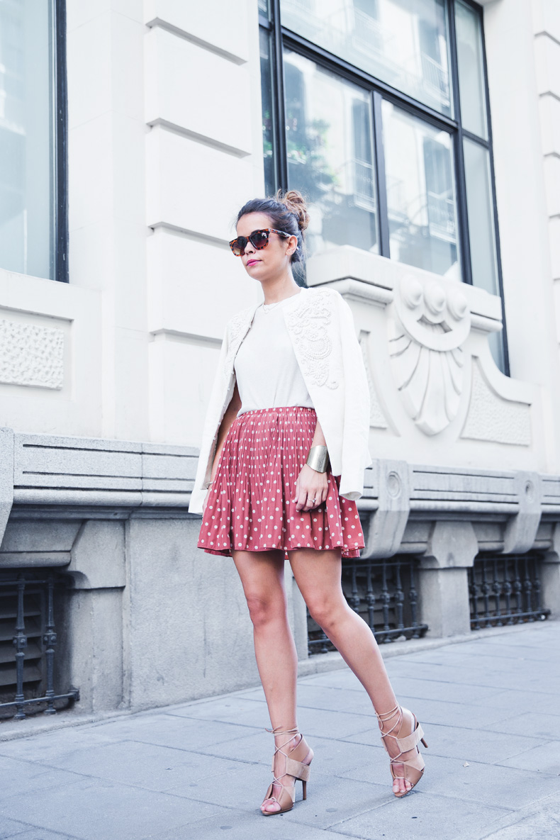 Embroidered_Jacket-Twin_Set-Polka_Dots_Skirt-Alexander_Wang_Sandals-Outfit-Street_Style-27