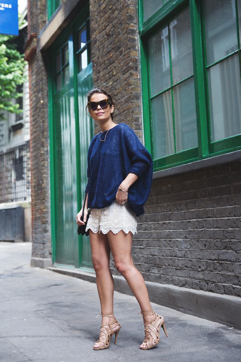 Lace_Shorts-Lace_Up_Sandals-Blue_Jumper-Outfit-7