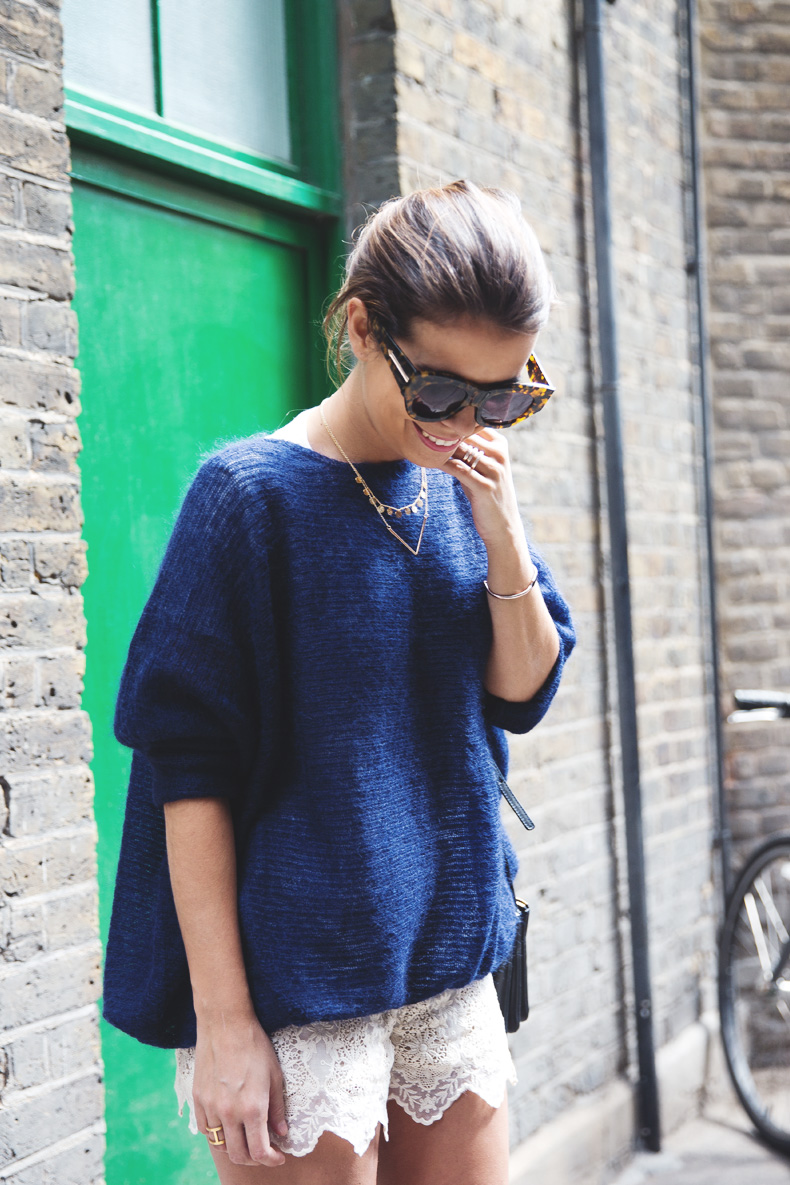 Lace_Shorts-Lace_Up_Sandals-Blue_Jumper-Outfit-2