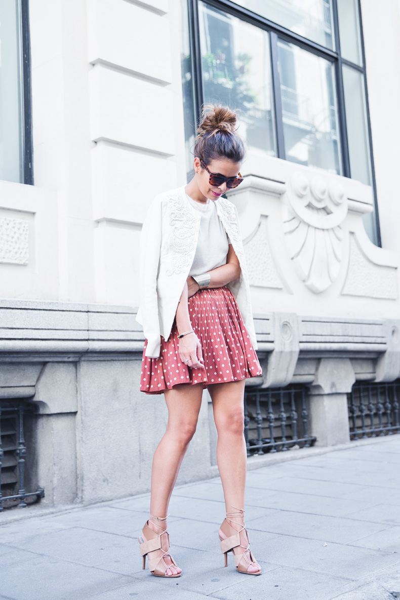 Embroidered_Jacket-Twin_Set-Polka_Dots_Skirt-Alexander_Wang_Sandals-Outfit-Street_Style-11