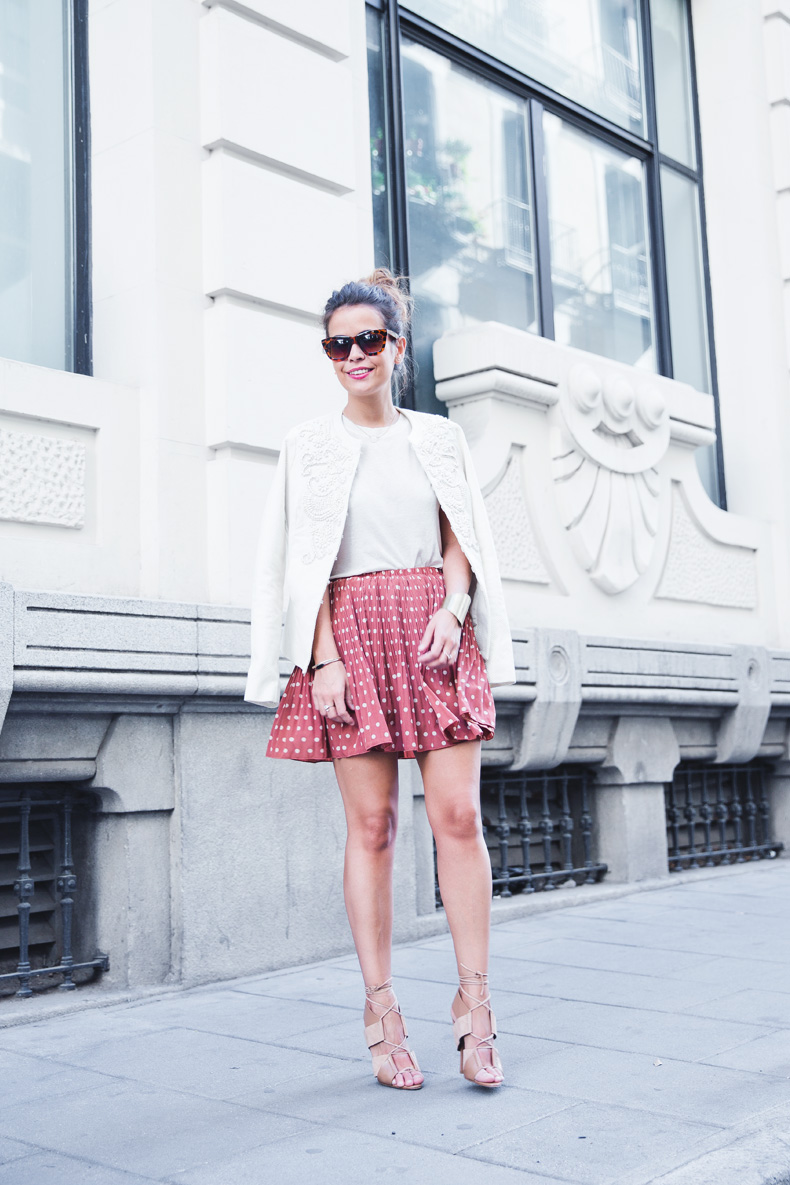 Embroidered_Jacket-Twin_Set-Polka_Dots_Skirt-Alexander_Wang_Sandals-Outfit-Street_Style-21