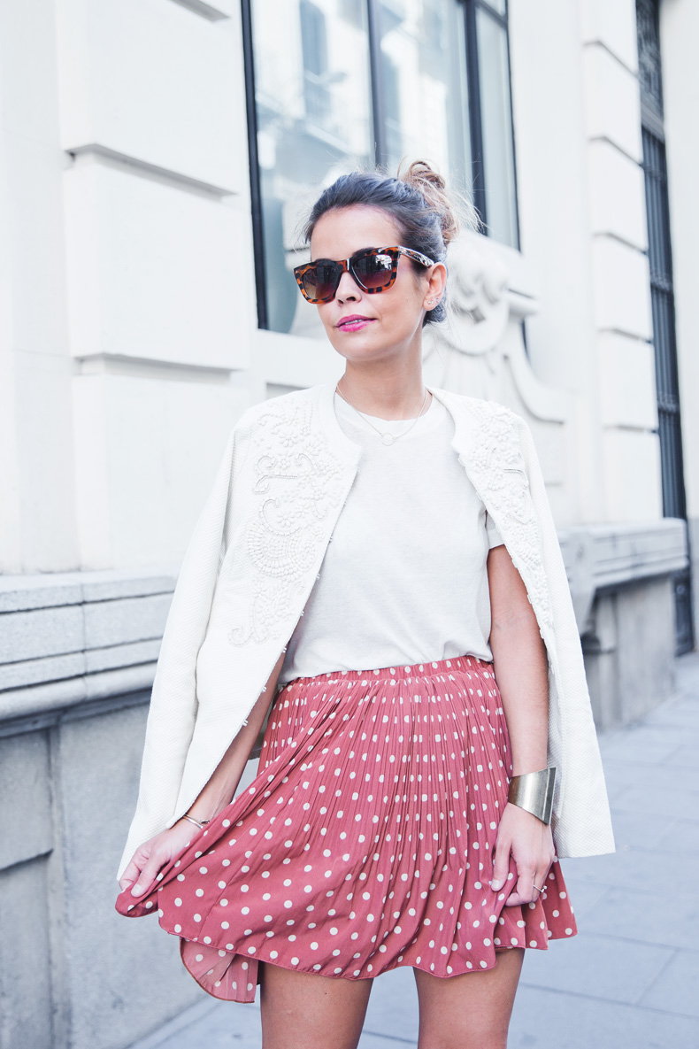 Embroidered_Jacket-Twin_Set-Polka_Dots_Skirt-Alexander_Wang_Sandals-Outfit-Street_Style-16