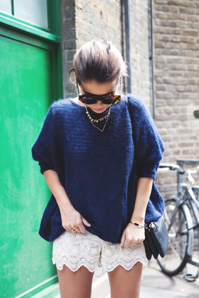Lace_Shorts-Lace_Up_Sandals-Blue_Jumper-Outfit-3