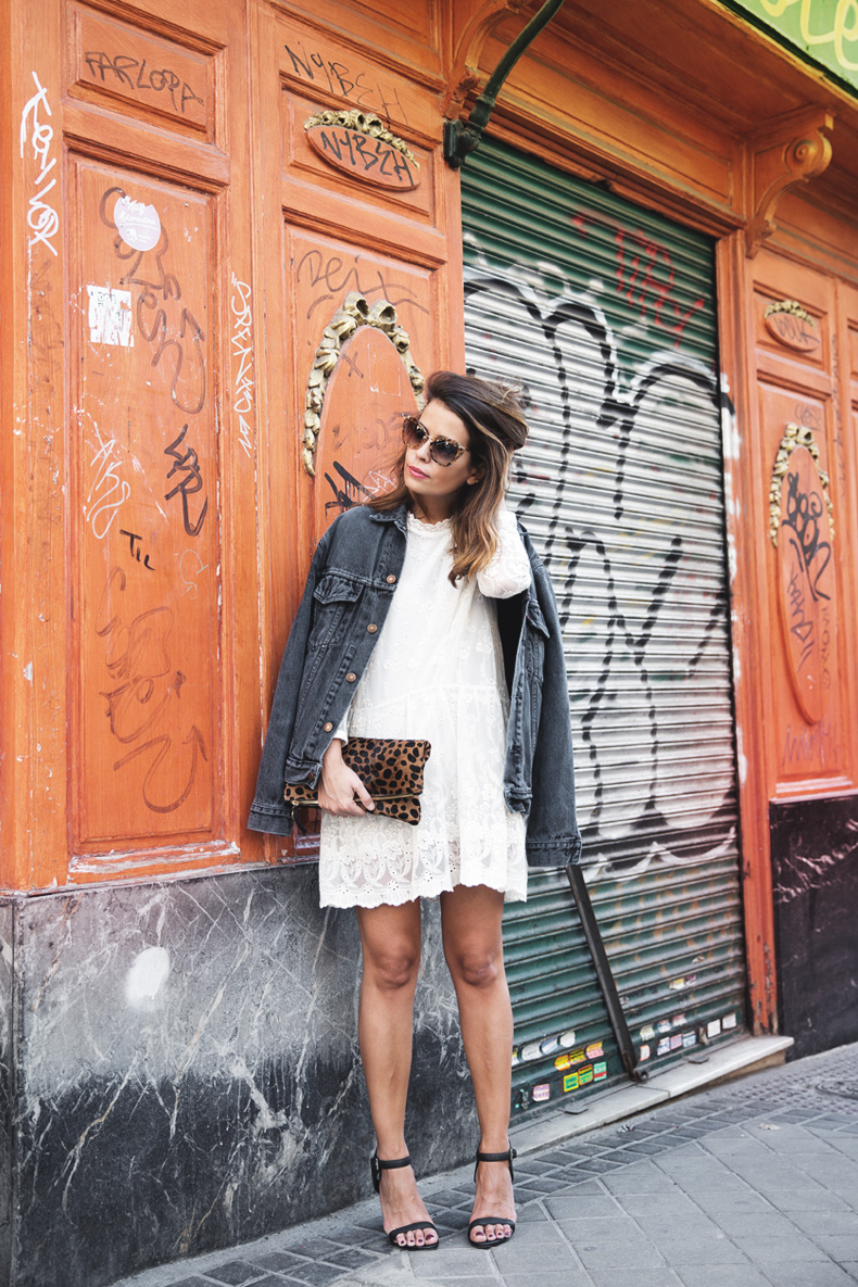 Vintage-Denim_Jacket-Lace_Dress-Olive_Clothing-Clare_Vivier-Leopard-Outfit-Street_Style-6