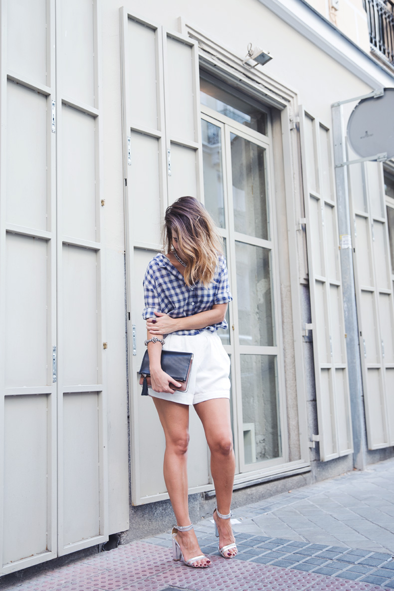 Tartan_Shirt-Olive_Clothing-White_Shorts-Outfit-Street_style-22