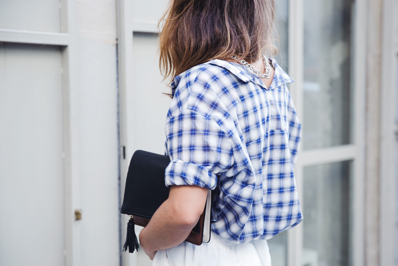 Tartan_Shirt-Olive_Clothing-White_Shorts-Outfit-Street_style-36