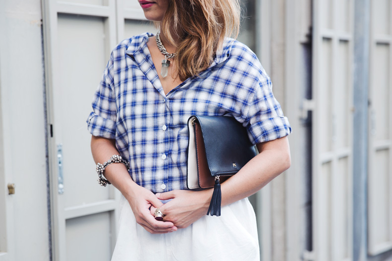 Tartan_Shirt-Olive_Clothing-White_Shorts-Outfit-Street_style-33